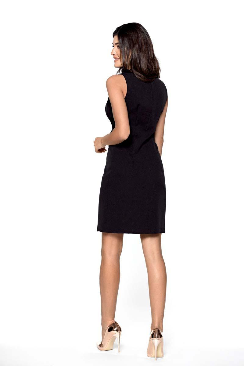 0c3ea840fe Czarna Dwurzędowa Sukienka Szmizjerka