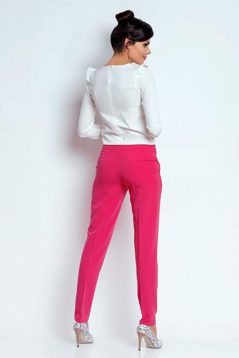 d1164d3b Różowe Eleganckie Spodnie Cygaretki