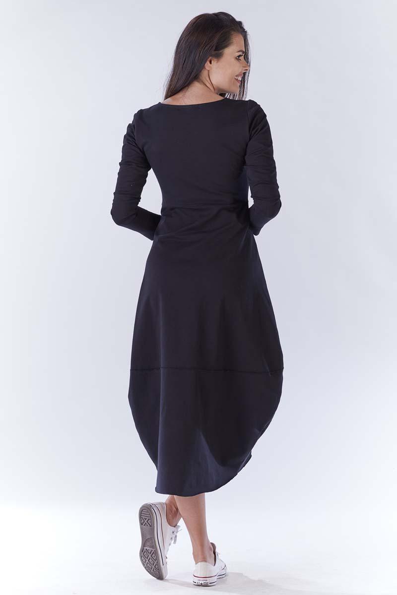 86196871a6 Czarna Długa Sportowa Sukienka Bombka
