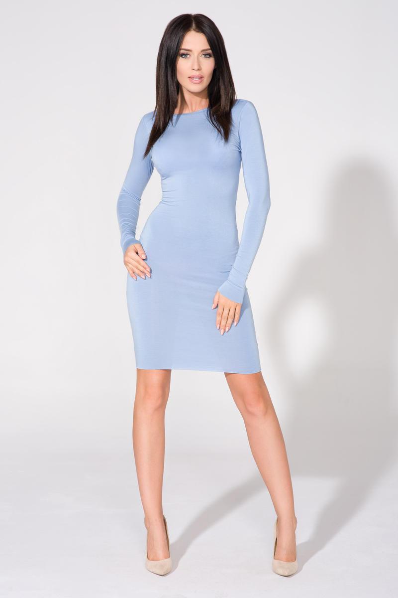 00219d1efc Niebieska Sukienka Bodycon z Dekoltem na Plecach