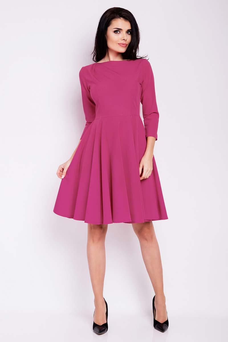 44184572a3 Różowa Sukienka Rozkloszowana do Kolan